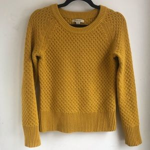 G.H.BASS & CO | Golden Yellow Cotton Knit Pullover